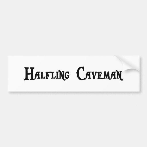 Halfling Caveman Bumper Sticker