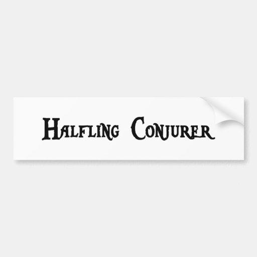 Halfling Conjurer Bumper Sticker Car Bumper Sticker