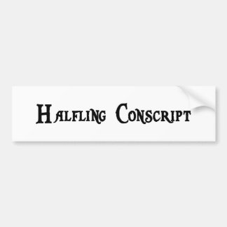 Halfling Conscript Sticker