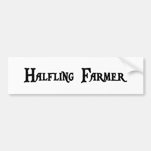 Halfling Farmer Bumper Sticker Car Bumper Sticker