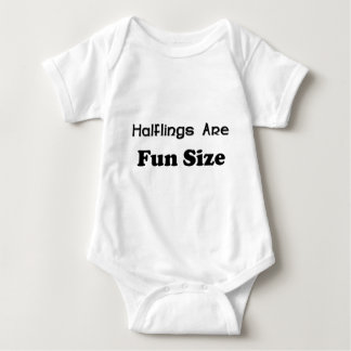 Halflings Are Fun Size Baby Bodysuit