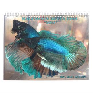 Halfmoon Betta Fish Calendar