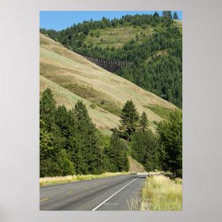 "Halfmoon Trestle and Highway 95 (28""x20"" poster)"