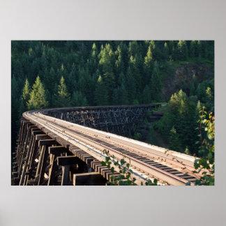 "Halfmoon Trestle (Bridge 22) 28""x20"" Poster B"