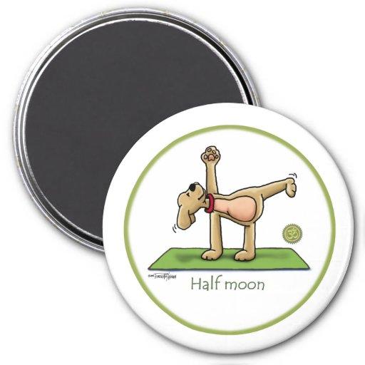 Halfmoon - yoga refrigerator magnets