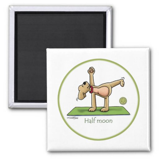 Halfmoon - yoga fridge magnet