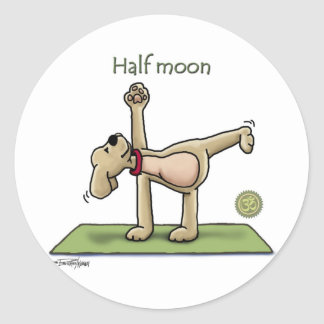 Halfmoon Yoga Time Classic Round Sticker