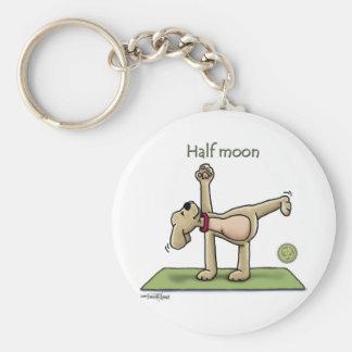 Halfmoon Yoga Time Keychain