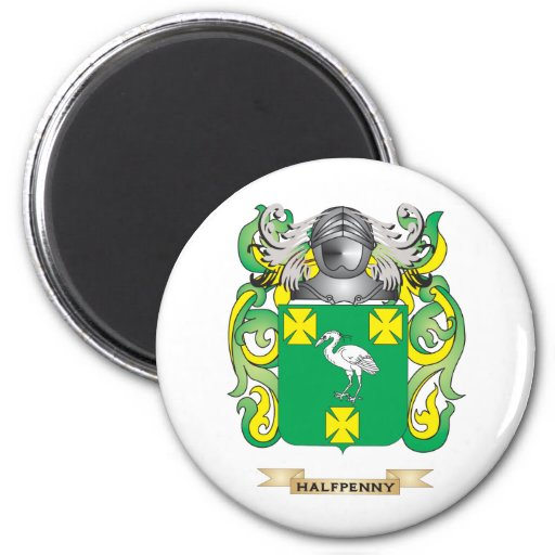 Halfpenny Coat of Arms (Family Crest) Magnet