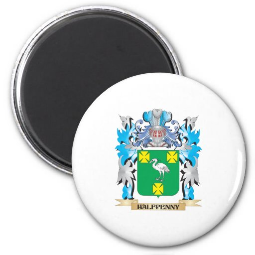 Halfpenny Coat of Arms - Family Crest Magnet