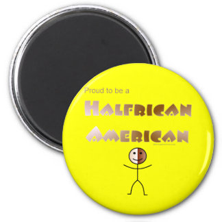 Halfrican American 2 Inch Round Magnet
