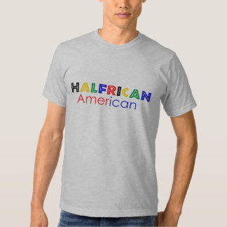 Halfrican American Fitted T-shirt