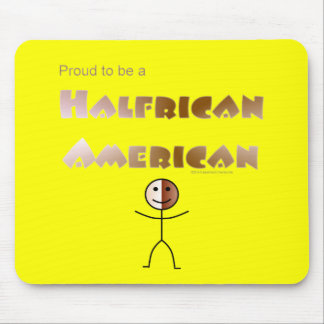 Halfrican American Mouse Pad