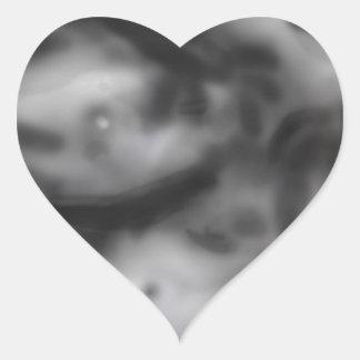 halfskull heart sticker