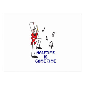HALFTIME GAME TIME POSTCARD