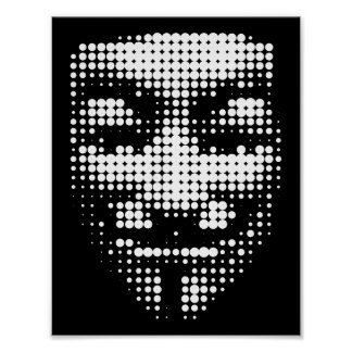 halftone anonymous face poster