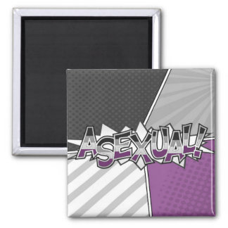 Halftone Asexual Typography Magnet