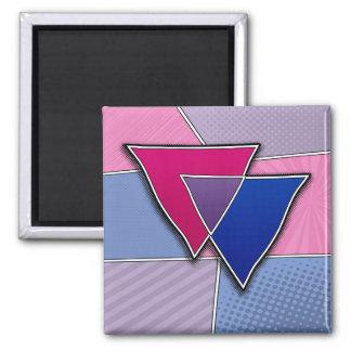 Halftone Bisexual Pride Triangles Magnet