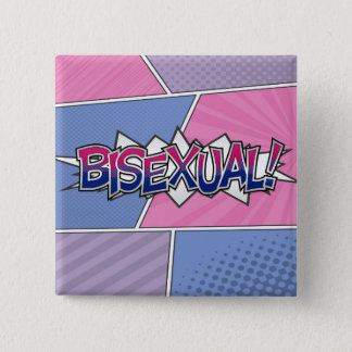 Halftone Bisexual Typography Pinback Button