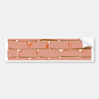 Halftone Brick Wall Bumper Sticker