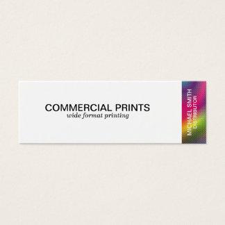 Halftone Color Mini Business Card