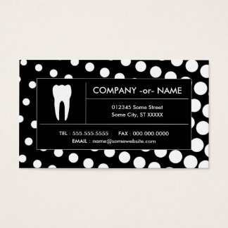 halftone dental office business card