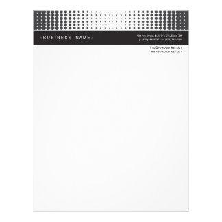 Halftone Dots Letterhead :: ebony