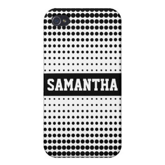 Halftone Dots Personalized iPhone4 Case (black)
