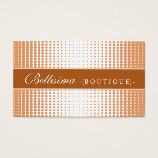 Halftone Dots Terra Cotta Business Card