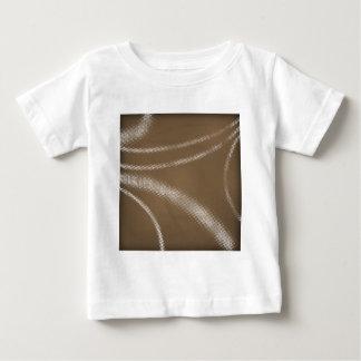 HALFTONE DOTTED coffee brown WHITE DIGITAL SWIRLS Baby T-Shirt