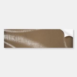 HALFTONE DOTTED coffee brown WHITE DIGITAL SWIRLS Bumper Sticker