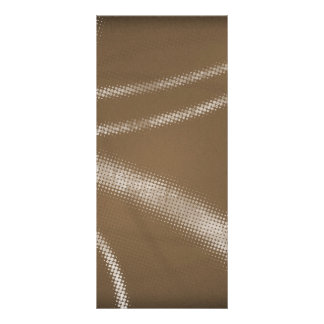 HALFTONE DOTTED coffee brown WHITE DIGITAL SWIRLS Personalized Rack Card
