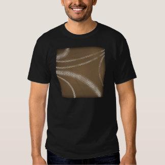 HALFTONE DOTTED coffee brown WHITE DIGITAL SWIRLS T-Shirt
