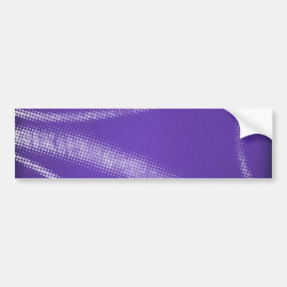 HALFTONE DOTTED DARK GRAPE PURPLE WHITE DIGITAL SW BUMPER STICKER