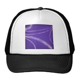 HALFTONE DOTTED DARK GRAPE PURPLE WHITE DIGITAL SW TRUCKER HAT