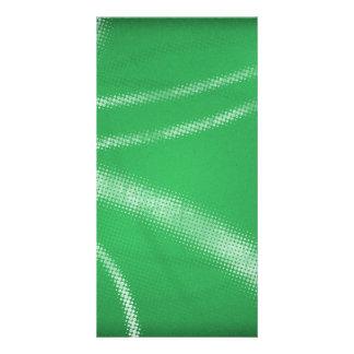 HALFTONE DOTTED GRASSY GREEN WHITE DIGITAL SWIRLS CARD