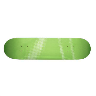 HALFTONE DOTTED LIGHT LIME GREEN WHITE DIGITAL SWI SKATEBOARD DECK