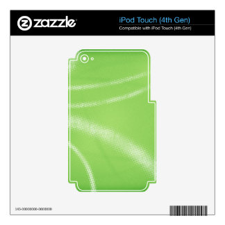 HALFTONE DOTTED LIGHT LIME GREEN WHITE DIGITAL SWI iPod TOUCH 4G SKINS