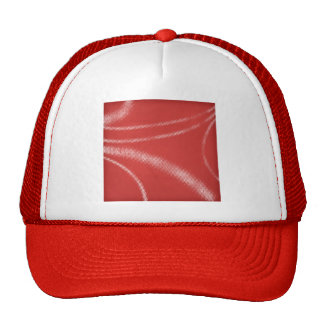 HALFTONE DOTTED STRAWBERRY DARK RED WHITE DIGITAL MESH HATS
