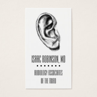Halftone Ear Audiologist Business Card