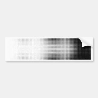 Halftone Faded Grid Bumper Sticker