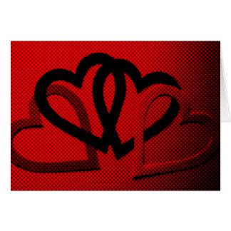 Halftone Hearts Cutout Card
