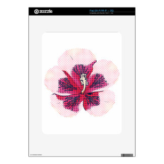 Halftone hibiscus skins for the iPad