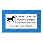 halftone horse business card