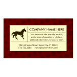 halftone horse business cards