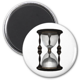 Halftone Hourglass Sand Timer 2 Inch Round Magnet