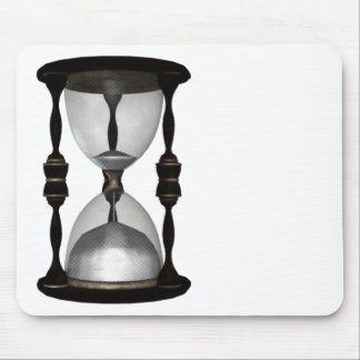 Halftone Hourglass Sand Timer Mouse Pad