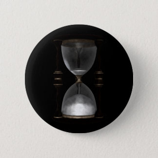 Halftone Hourglass Sand Timer Pinback Button