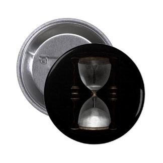 Halftone Hourglass Sand Timer Pinback Button