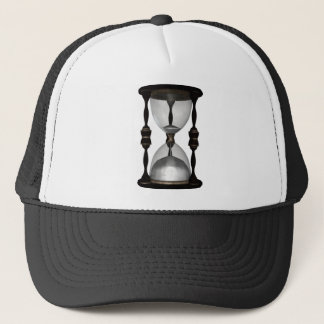 Halftone Hourglass Sand Timer Trucker Hat